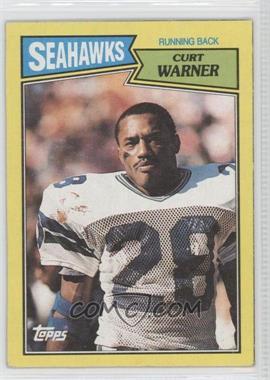 1987 Topps Box Bottoms #N/A - Curt Warner