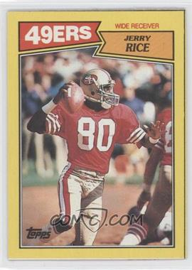 1987 Topps Box Bottoms #N/A - Jerry Rice