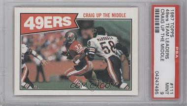 1987 Topps #111 - San Francisco 49ers [PSA9]
