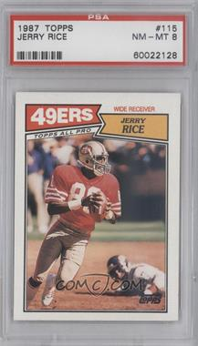 1987 Topps #115 - Jerry Rice [PSA 8]