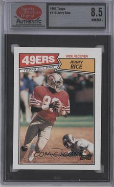1987 Topps #115 - Jerry Rice [ENCASED]