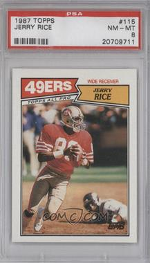 1987 Topps #115 - Jerry Rice [PSA8]