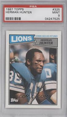 1987 Topps #325 - Herman Hunter [PSA 9]