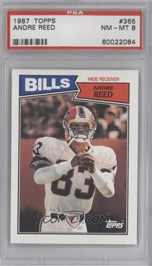 1987 Topps #365 - Andre Reed [PSA 8]