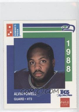 1988 Domino's Pizza Seattle Seahawks Collector's Series - [Base] #11 - Alvin Powell