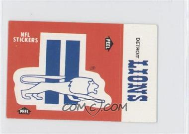 1988 Fleer Live Action Football Stickers #N/A - Detroit Lions Team