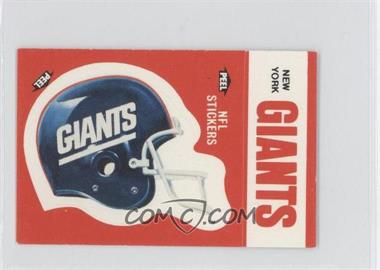 1988 Fleer Live Action Football Stickers #NYGI - New York Giants