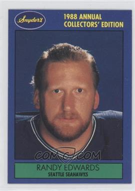 1988 Snyder's Seattle Seahawks #11 - Randy Edwards