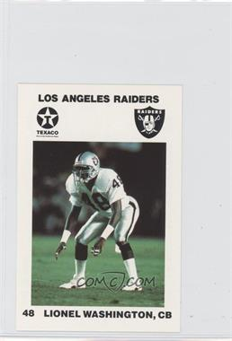 1988 Texaco Los Angeles Raiders Police #48 - Lionel Washington