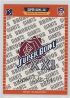 Super Bowl XXI - New York Giants, Denver Broncos