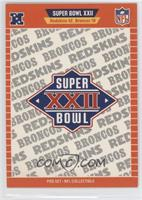 Super Bowl XXII - Washington Redskins, Denver Broncos