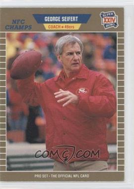 1989 Pro Set Super Bowl XXIV Binder Set #389 - George Seifert