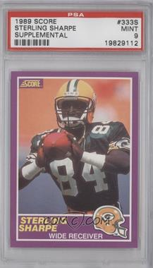 1989 Score Supplemental #333S - Sterling Sharpe [PSA 9]