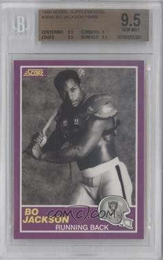 1989 Score Supplemental #384S - Bo Jackson [BGS 9.5]
