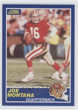 1989 Score #1 - Joe Montana