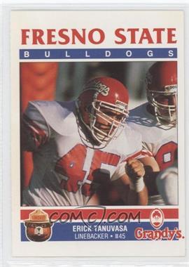 1989 Smokey Bear/Grandy's Fresno State Bulldogs - [Base] #ERTA - Erick Tanuvasa