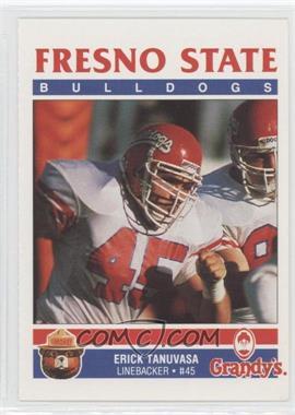 1989 Smokey Bear/Grandy's Fresno State Bulldogs #N/A - Erk Taylor