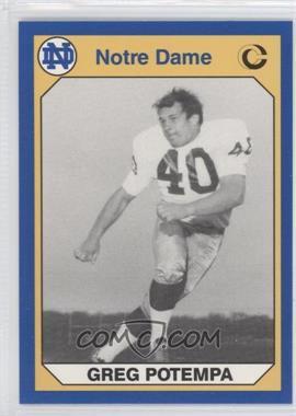 1990 Collegiate Collection University of Notre Dame - [Base] #121 - Greg Potempa