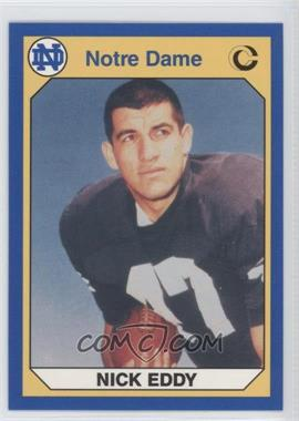 1990 Collegiate Collection University of Notre Dame - [Base] #24 - Nick Eddy