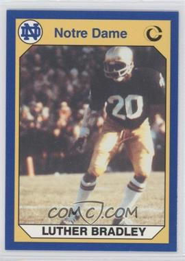 1990 Collegiate Collection University of Notre Dame - [Base] #54 - Luther Bradley