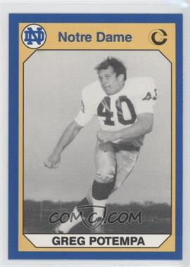 1990 Collegiate Collection University of Notre Dame #121 - Greg Potempa