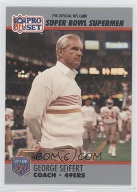 1990 Pro Set Super Bowl XXV Silver Anniversary Box Set [Base] #131 - George Seifert