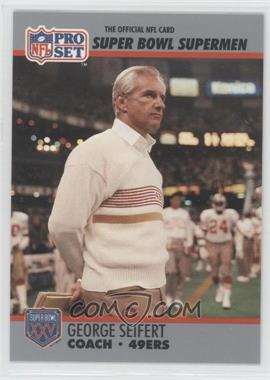 1990 Pro Set Super Bowl XXV Silver Anniversary Box Set [Base] #131 - George Seifert