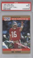 Joe Montana (Error: Jim Kelly 3,521 yards) [PSA 9]