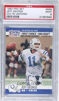 Draft - Jeff George (White pant laces) [PSA 9]