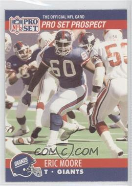 1990 Pro Set #744.2 - Pro Set Prospect - Eric Moore (Corrected: Pro Set Prospect on Front)