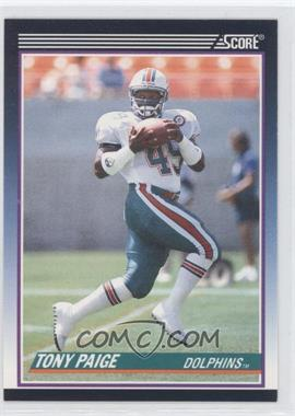 1990 Score Rookie & Traded (Supplemental) #40T - Tony Paige