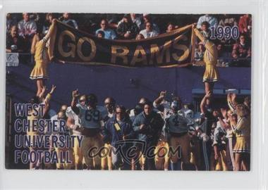 1990 West Chester University Rams Schedule Cards #N/A - [Missing]