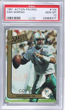 1991 Action Packed - [Base] #144 - Dan Marino [PSA 10]