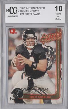 1991 Action Packed Rookies #21 - Brett Favre [ENCASED]