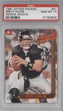 1991 Action Packed Rookies #21 - Brett Favre [PSA 10]
