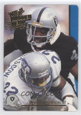 1991 Action Packed The All-Madden Team - [Base] - 24 Kt. Gold #49G - Elvis Patterson