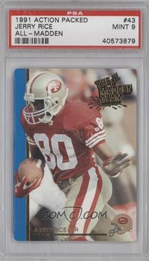 1991 Action Packed The All-Madden Team - [Base] #43 - Jerry Rice [PSA 9]