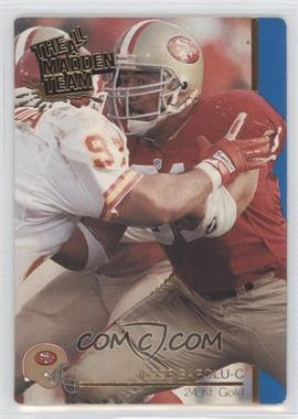 1991 Action Packed The All-Madden Team 24 Kt. Gold #4G - Jesse Sapolu