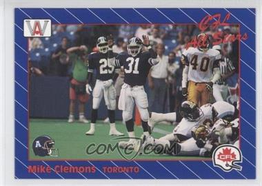 1991 All World CFL - [Base] #75 - Michael Clemons