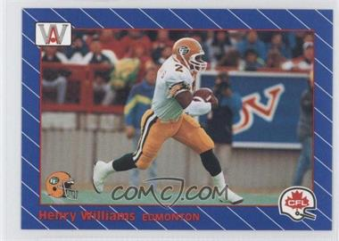 1991 All World CFL #46 - Henry Williams