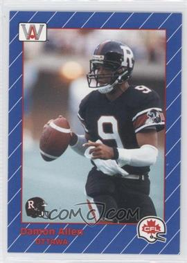 1991 All World CFL #60 - Damon Allen