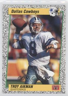 1991 All World Troy Aikman #1.2 - Troy Aikman (Speckle Border Spanish)
