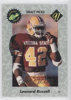 1991 Classic Draft Picks #13 - Leonard Russell