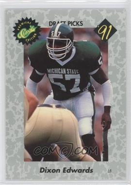 1991 Classic Draft Picks #34 - Dixon Edwards
