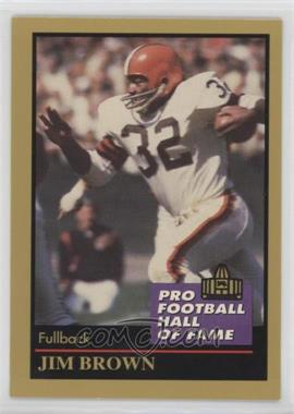 1991 Enor Pro Football Hall of Fame - [Base] #17 - Jim Brown