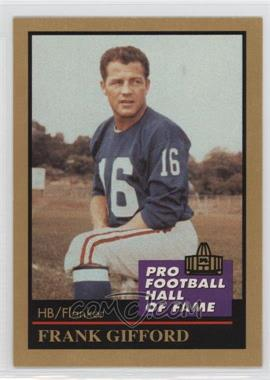 1991 Enor Pro Football Hall of Fame - [Base] #46 - Frank Gifford
