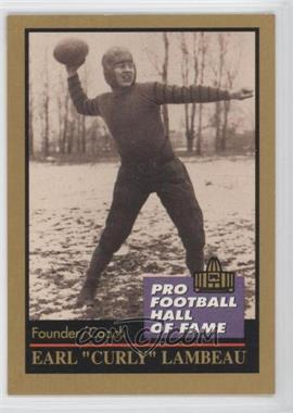 1991 Enor Pro Football Hall of Fame - [Base] #78 - Curly Lambeau