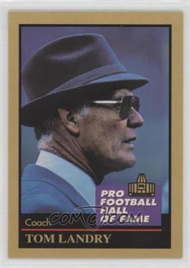 1991 Enor Pro Football Hall of Fame - [Base] #80 - Tom Landry
