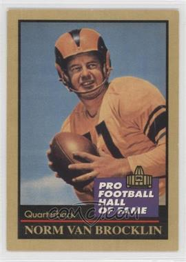 1991 Enor Pro Football Hall of Fame #145 - Norm Van Brocklin