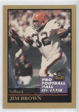1991 Enor Pro Football Hall of Fame #17 - Jim Brown